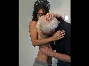 Old Man Teaches Sex Coaching To Sexy..