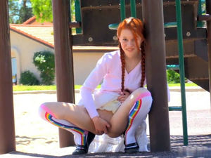 Redhead Tiny cute smiles and massages..