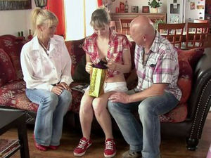 Mature duo three-way with his Girlfriend