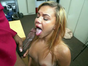 Fledgling nubian hottie bj's Big black..