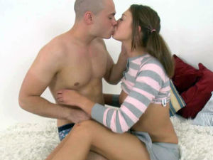 Impudent guy pounding beautiful teen..